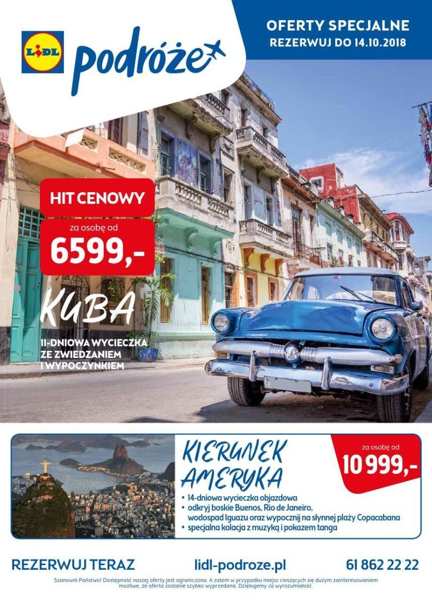 Lidl Podróże, katalog do 14.10.2018