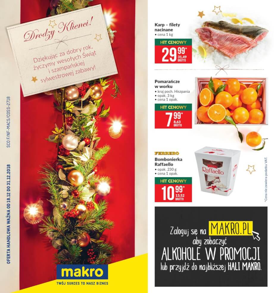 Makro, gazetka do 31.12.2018