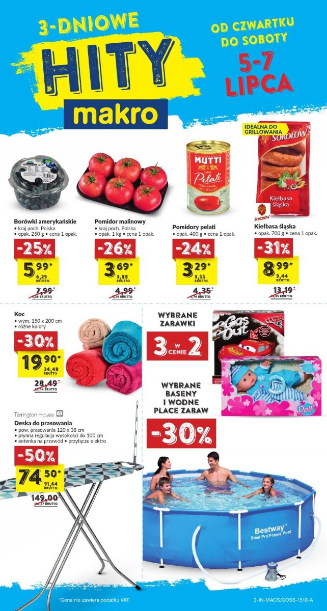Makro Cash, gazetka do 07.07.2018