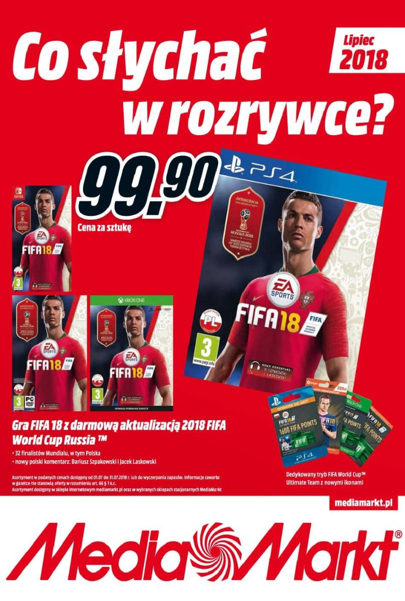Media Markt, gazetka do 31.07.2018