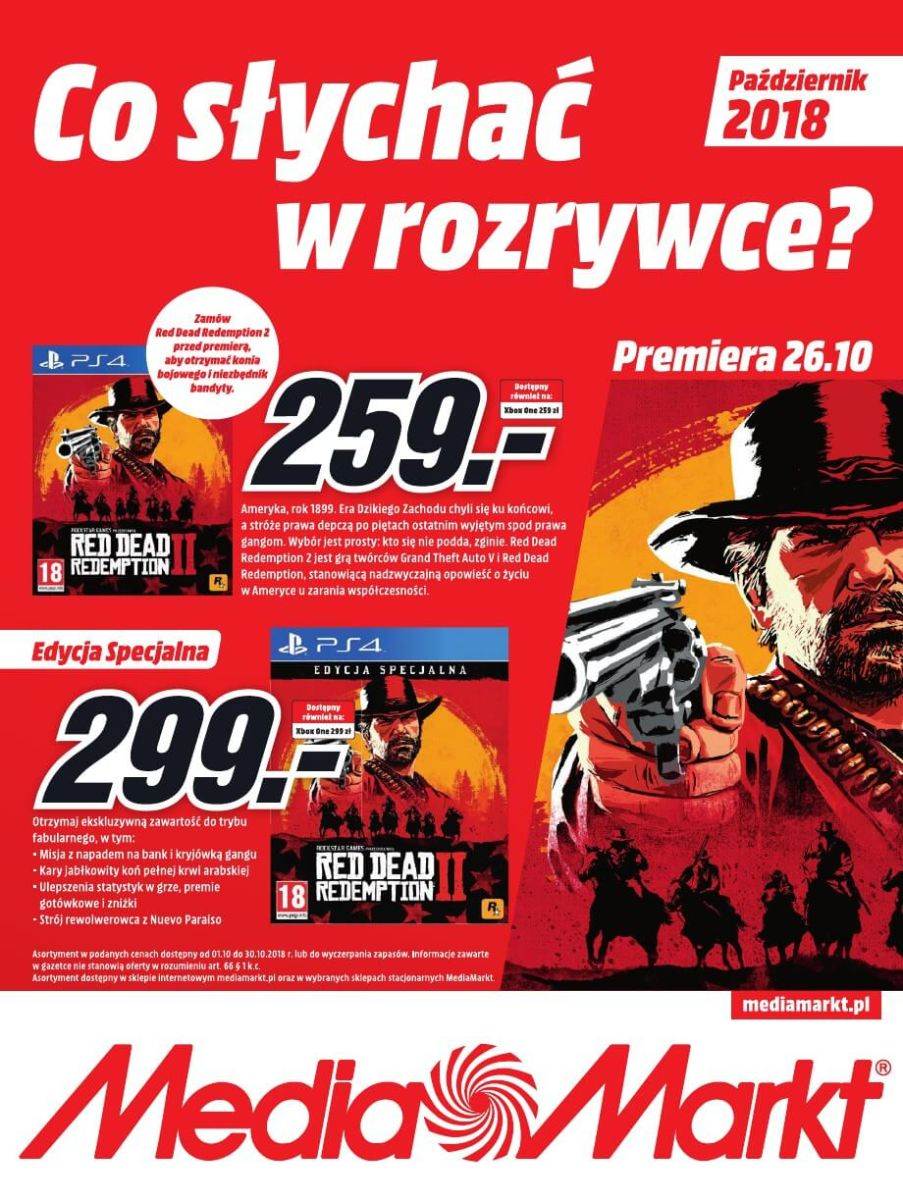 Media Markt, gazetka do 31.10.2018