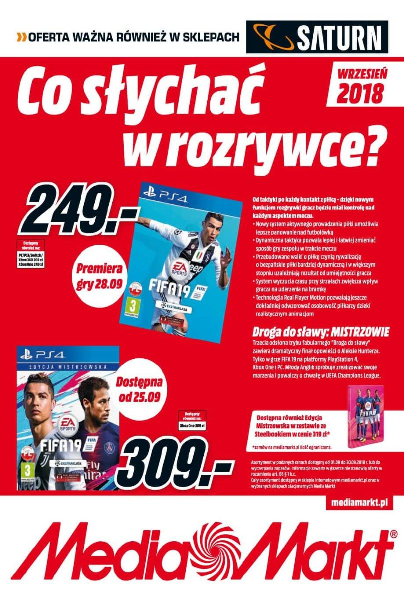 Media Markt, gazetka do 30.09.2018