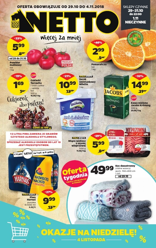 Netto, gazetka do 04.11.2018