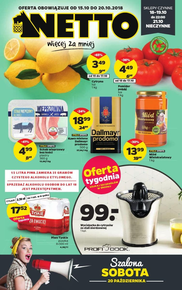 Netto, gazetka do 20.10.2018