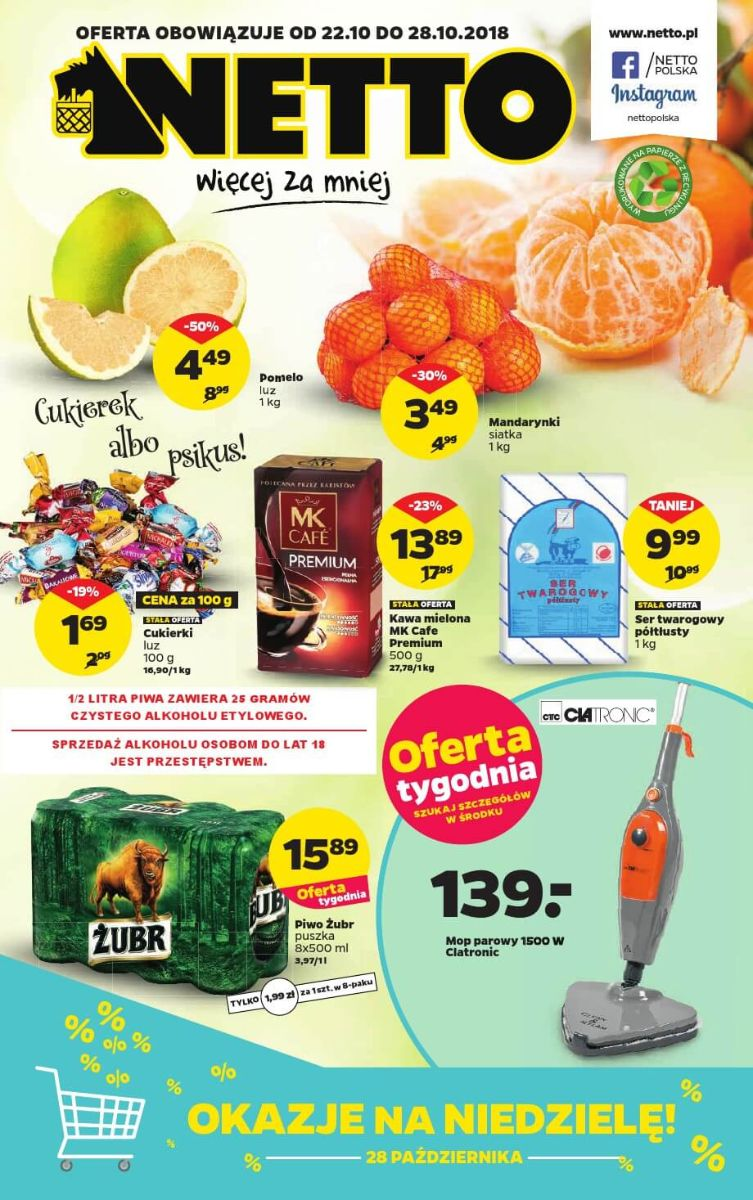 Netto, gazetka do 28.10.2018