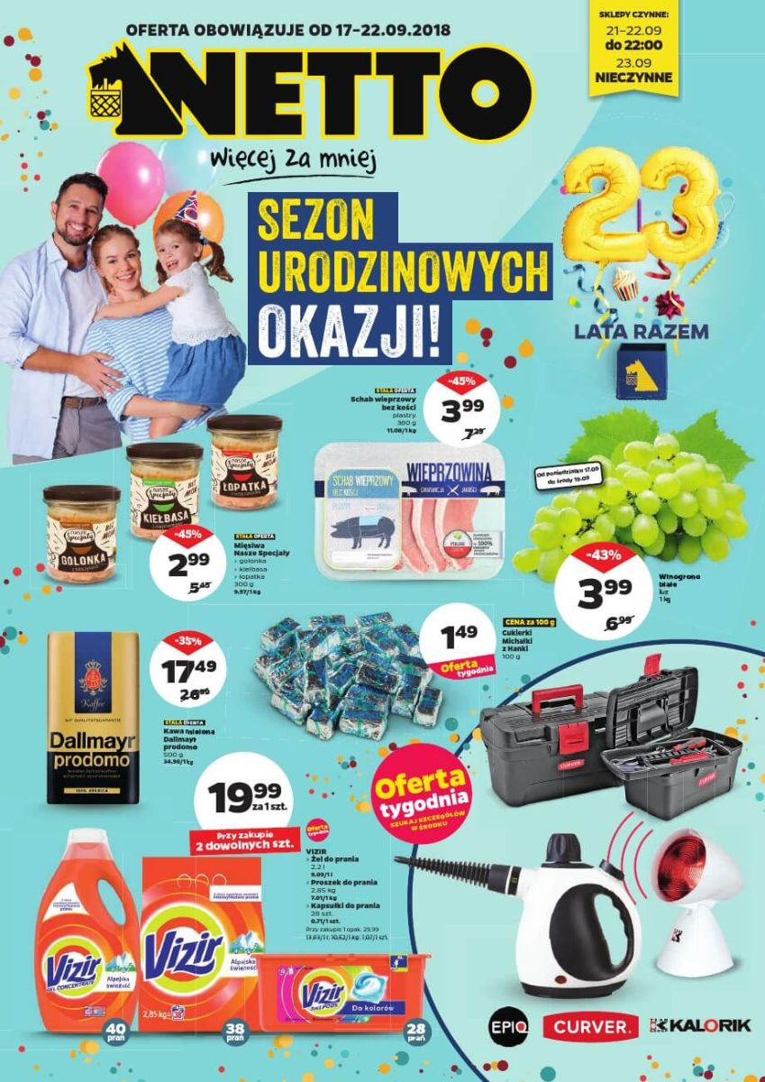 Netto, gazetka do 22.09.2018
