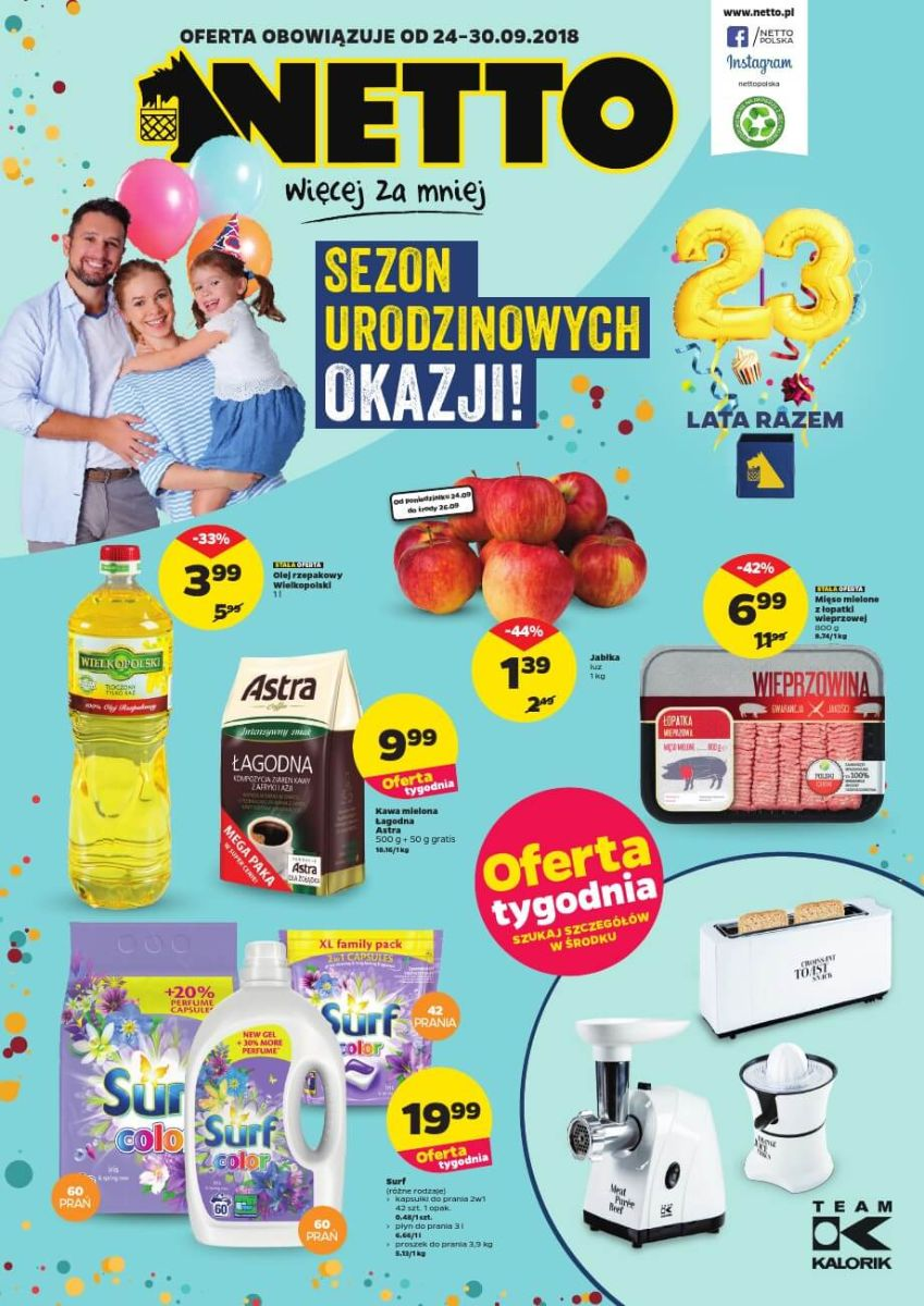 Netto, gazetka do 30.09.2018