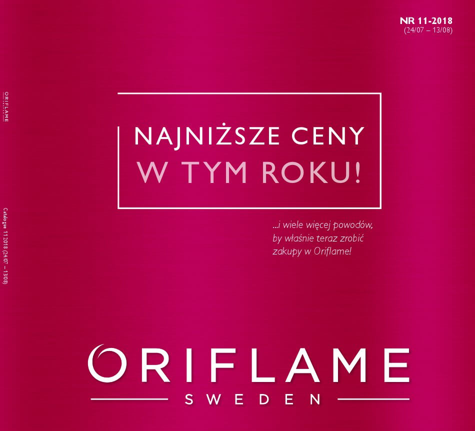 Oriflame, gazetka do 13.08.2018