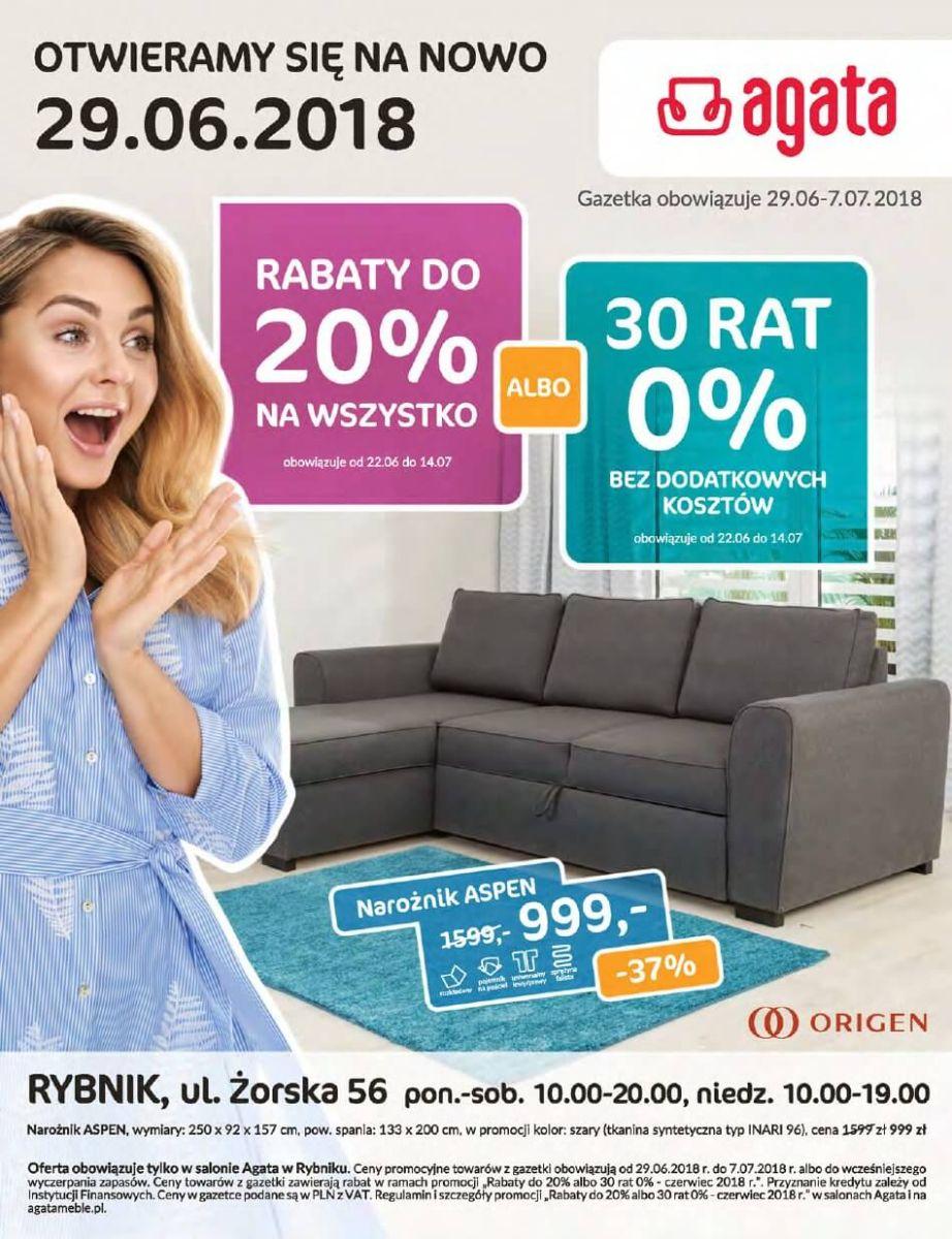 Agata, gazetka do 07.07.2018