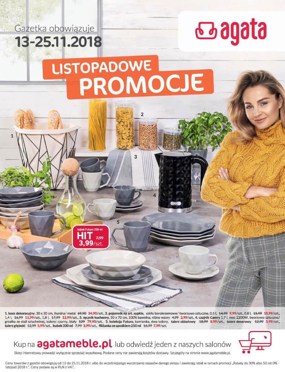 Salony Agata, gazetka do 25.11.2018