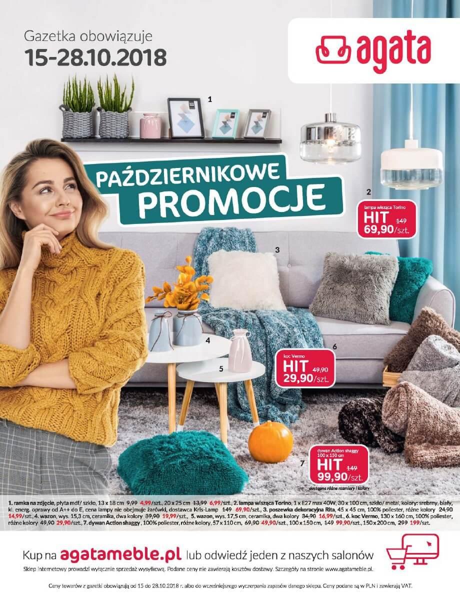 Salony Agata, gazetka do 28.10.2018