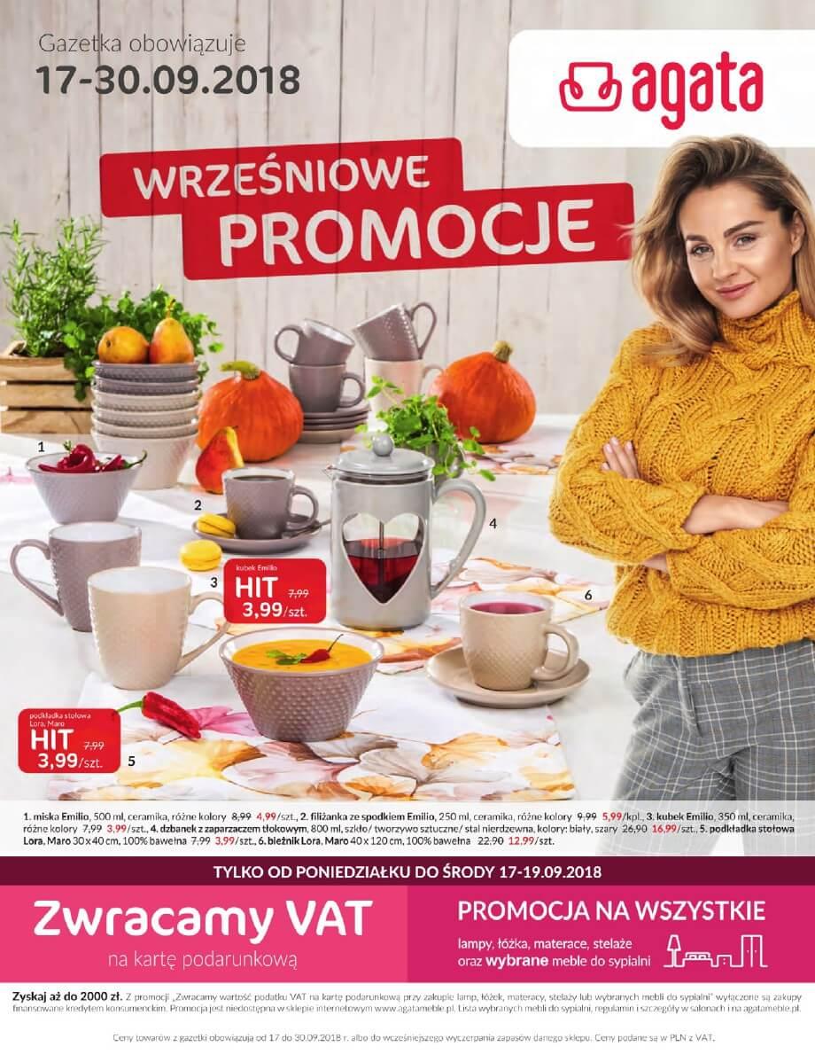 Agata, gazetka do 30.09.2018