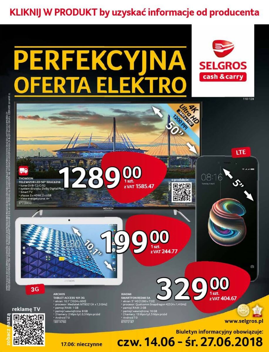 Selgros Cash and Carry, gazetka do 27.06.2018
