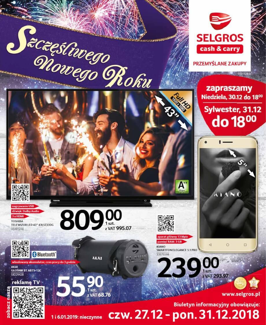 Selgros, gazetka do 31.12.2018