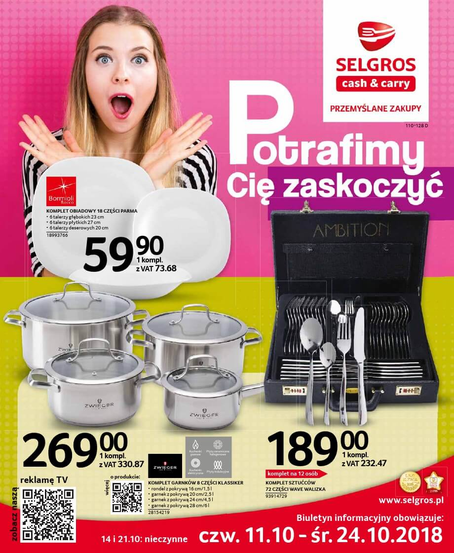 Selgros, gazetka do 24.10.2018