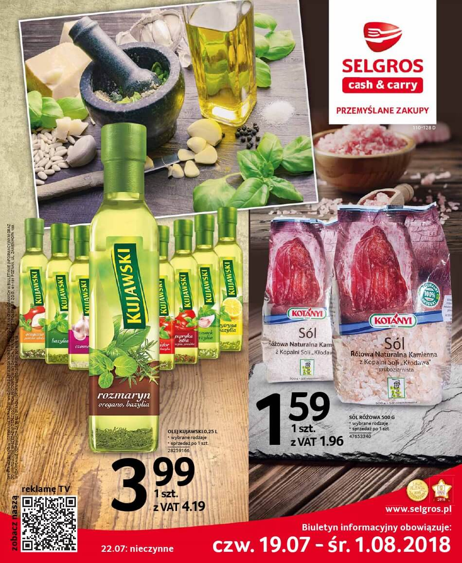 Selgros Cash and Carry, gazetka do 01.08.2018