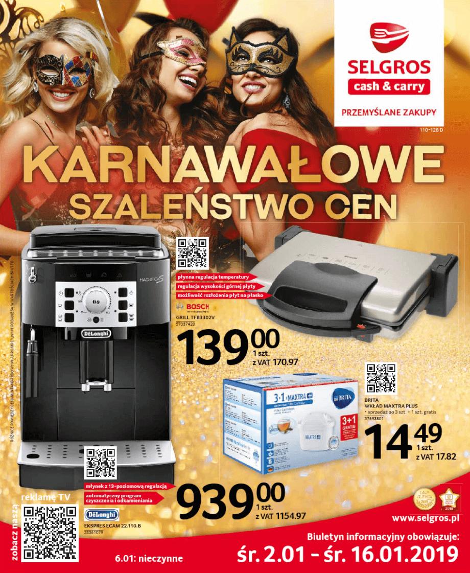 Selgros, gazetka do 16.01.2019