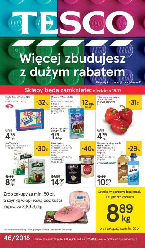 Tesco, gazetka do 21.11.2018