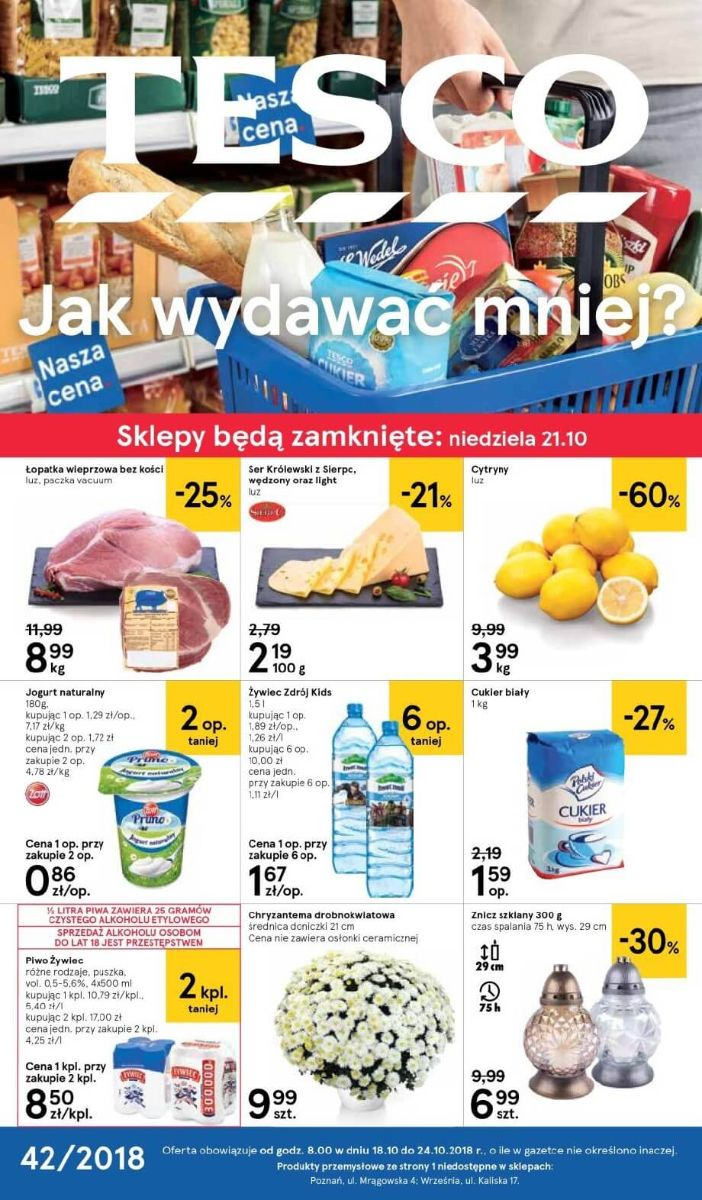 Tesco, gazetka do 24.10.2018