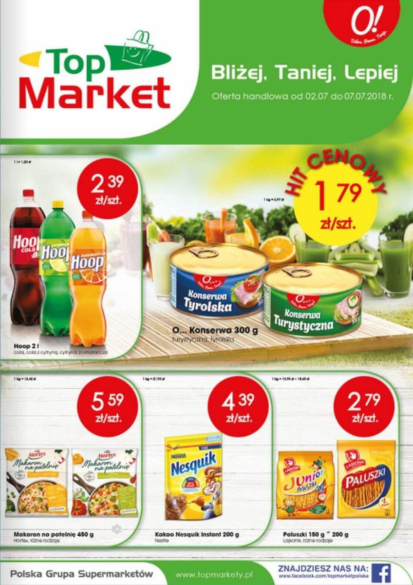 Top Market, gazetka do 07.07.2018