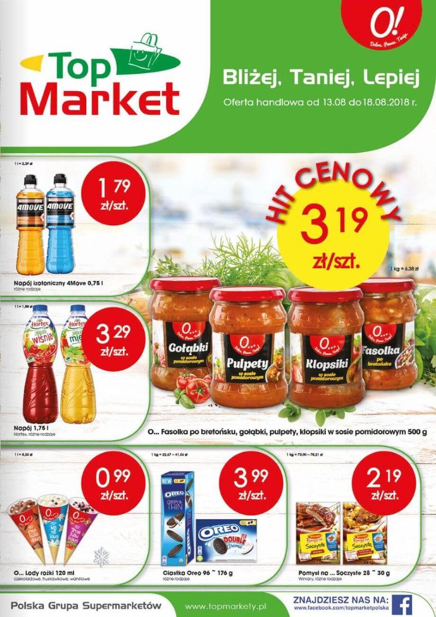 Top Market, gazetka do 18.08.2018