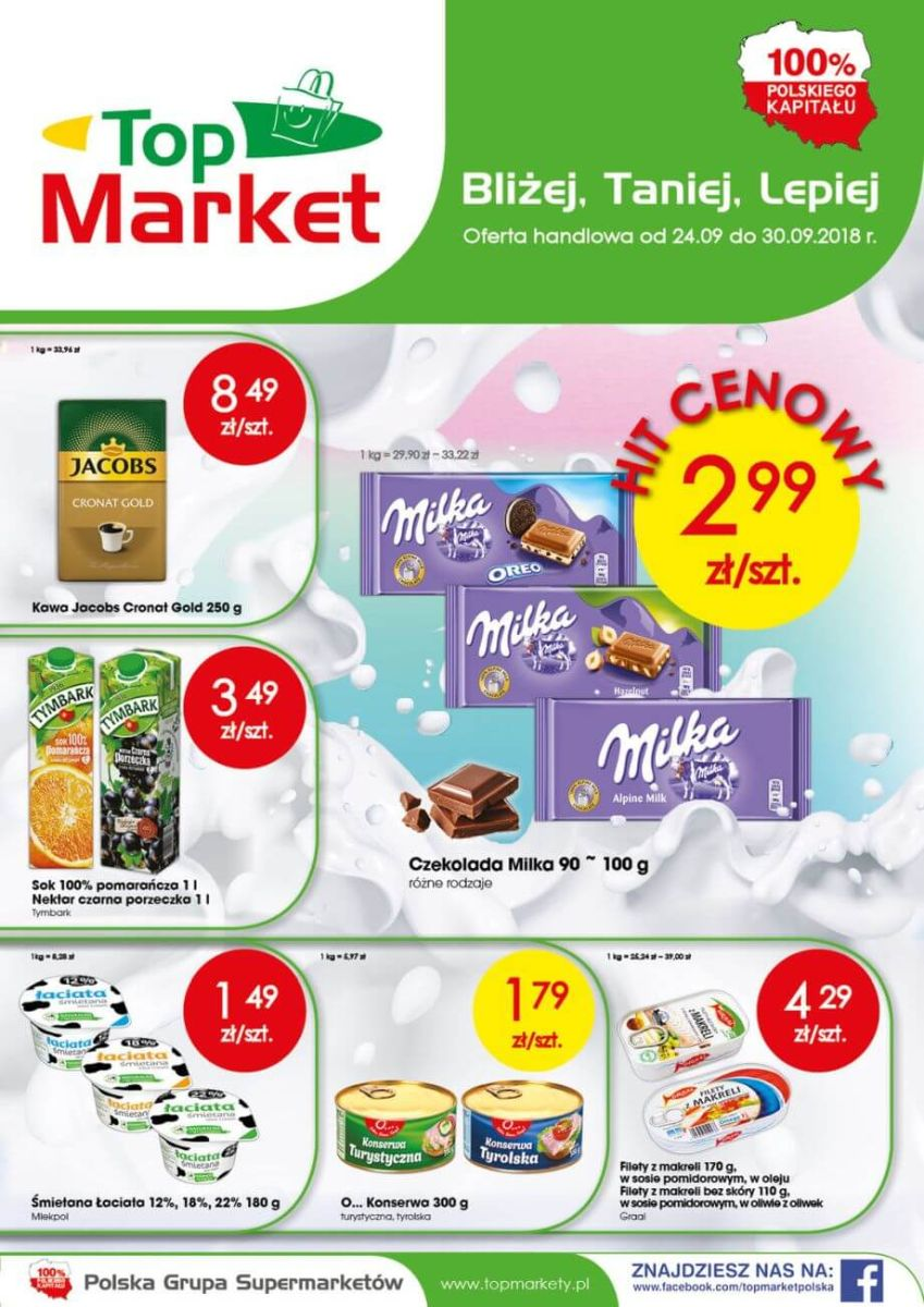 Top Market, gazetka do 30.09.2018