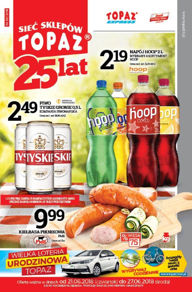 Topaz, gazetka 27.06.2018