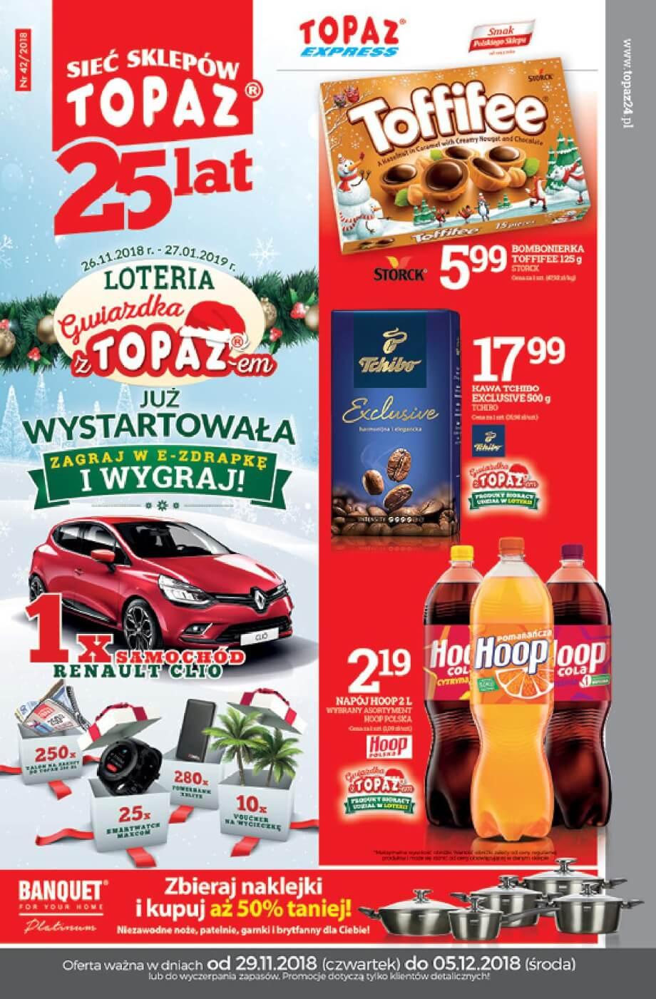 Topaz, gazetka do 05.12.2018