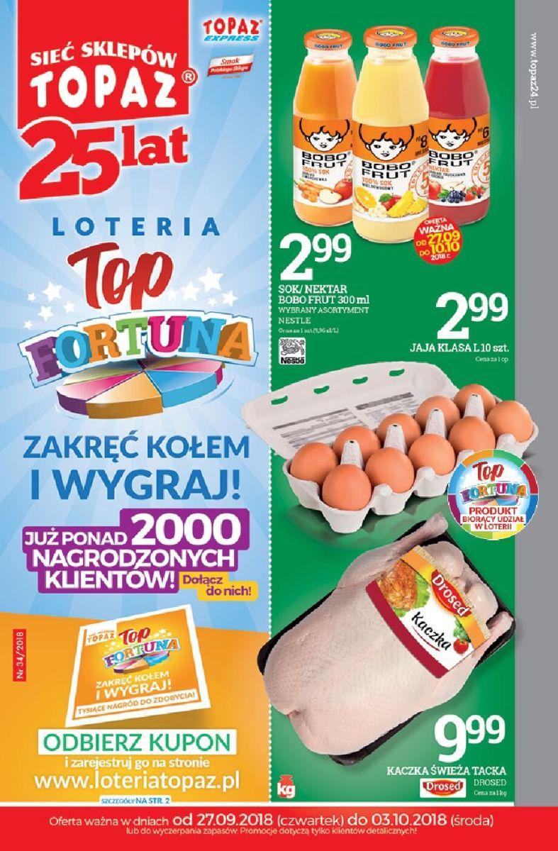 Topaz, gazetka do 03.10.2018
