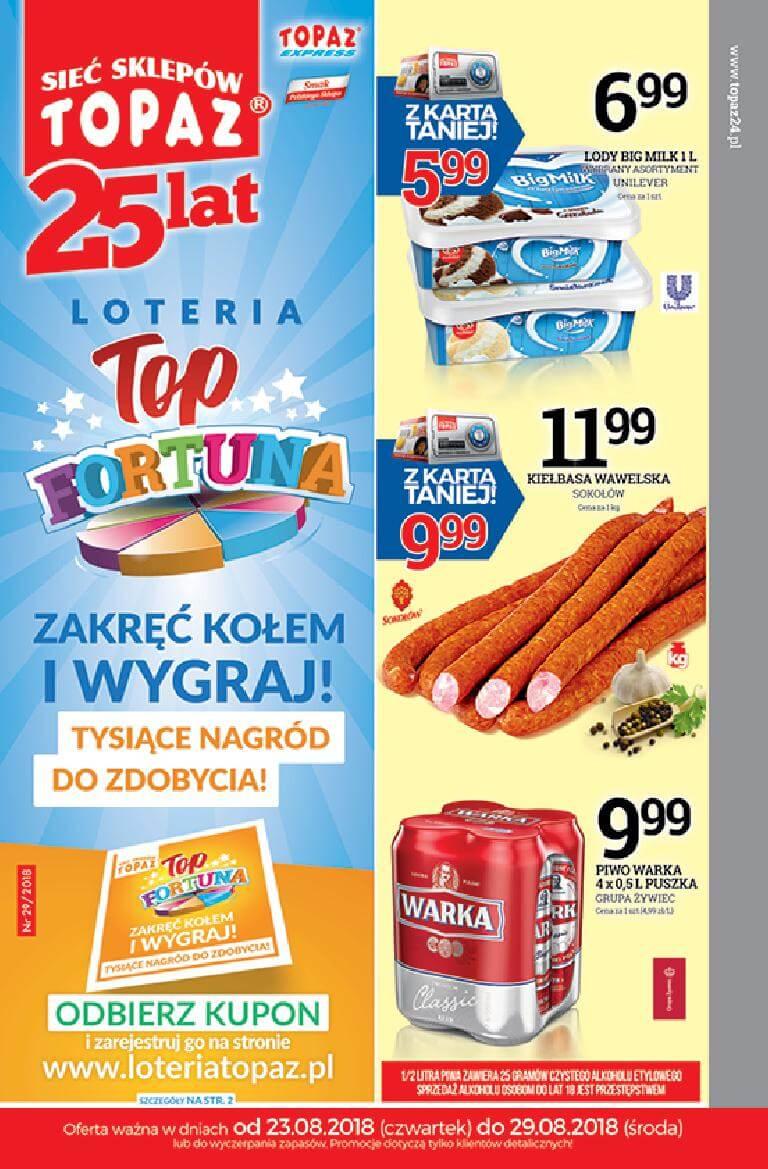 Topaz, gazetka do 29-08-2018