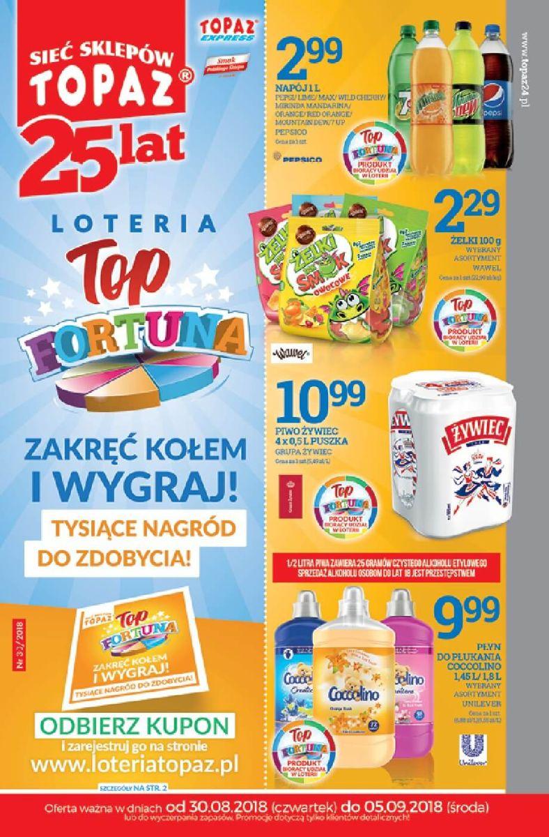 Topaz, gazetka do 05.09.2018