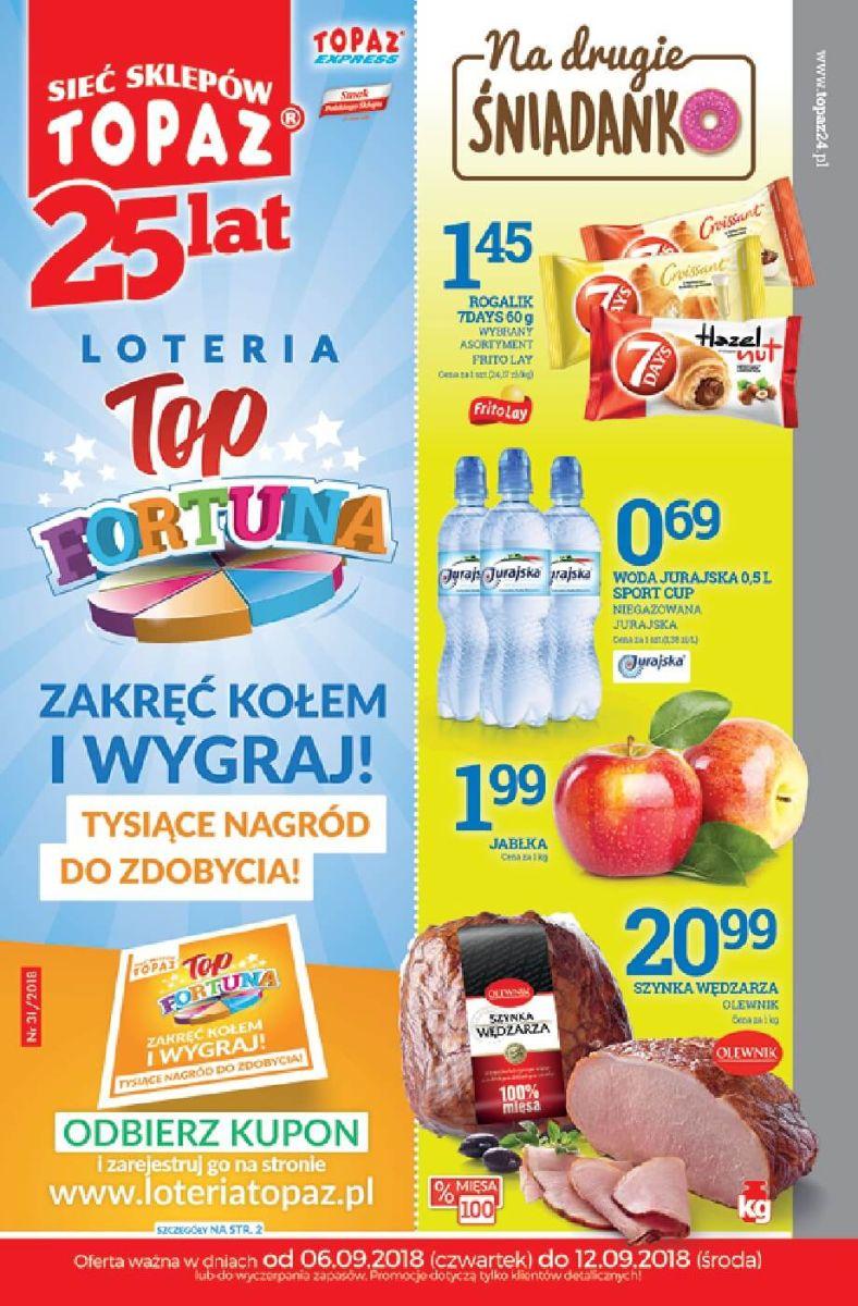 Topaz, gazetka do 12.09.2018