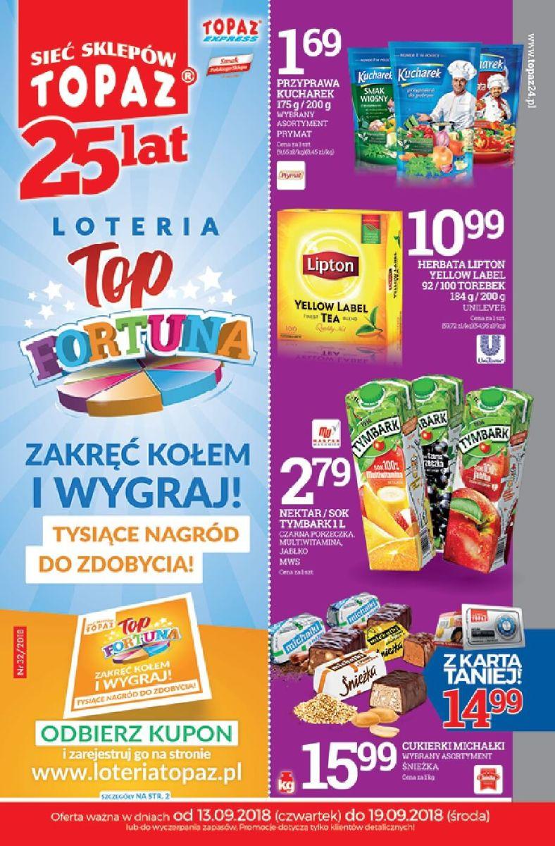 Topaz, gazetka do 19.09.2018