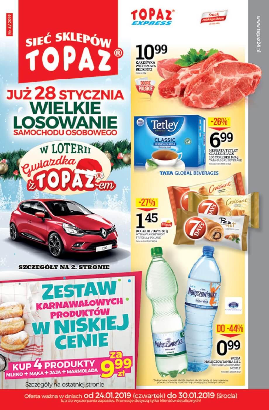 Topaz, gazetka do 30.01.2019