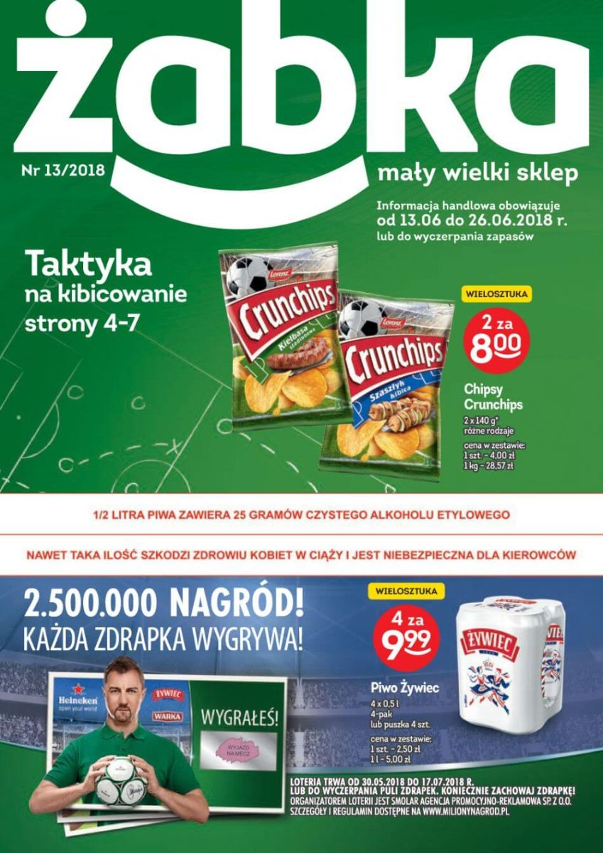 Żabka, gazetka do 26.06.2018