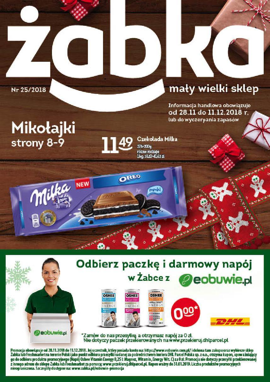 Żabka, gazetka do 11.12.2018