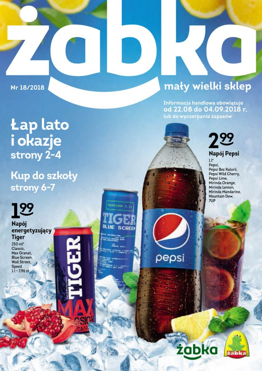 Żabka, gazetka do 04-09-2018
