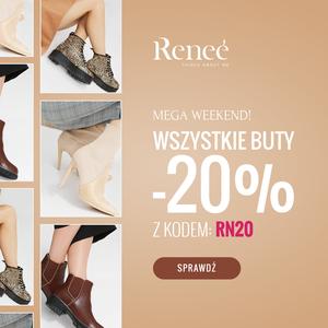 Zniżka na wszystkie buty -20% w Renee