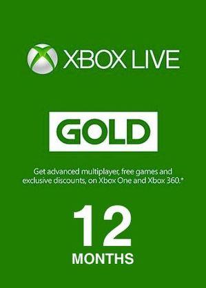 GA2 - Abonament Xbox Live Gold 12 miesięcy