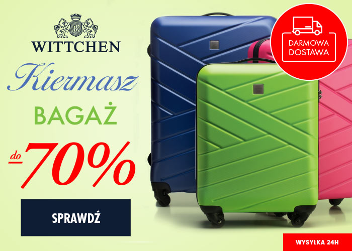 ed8219fd3cc7a Wyprzedaż walizek w Wittchen. Nawet do -70% taniej + darmowa dostawa.