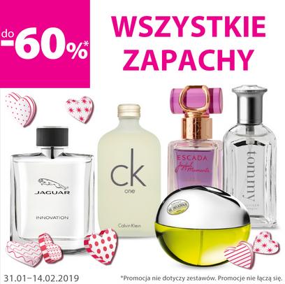 Wszystkie perfumy nawet 60% taniej w Hebe.