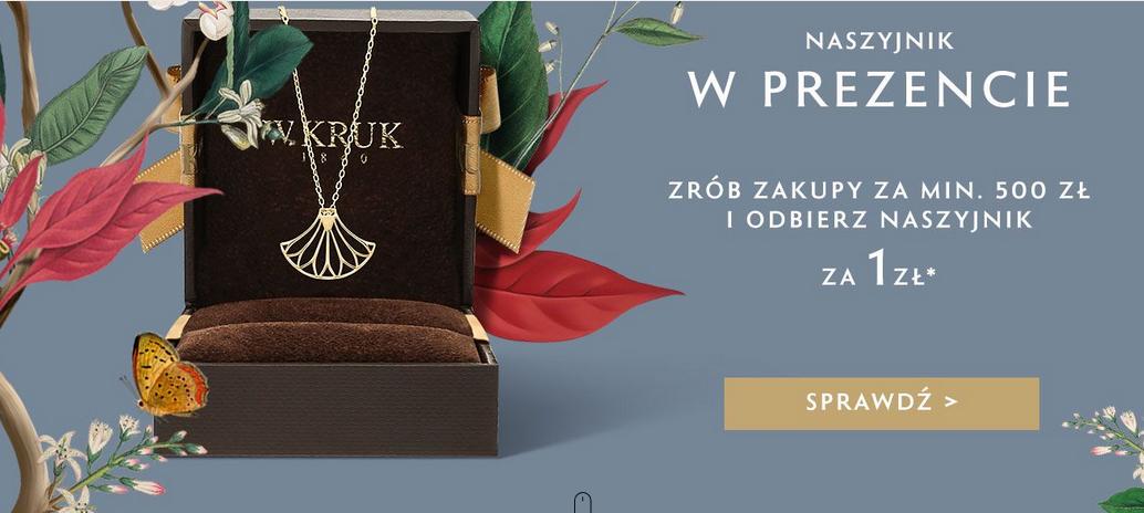 Naszyjnik za 1 zł przy zakupach za minimum 500 zł w W.KRUK