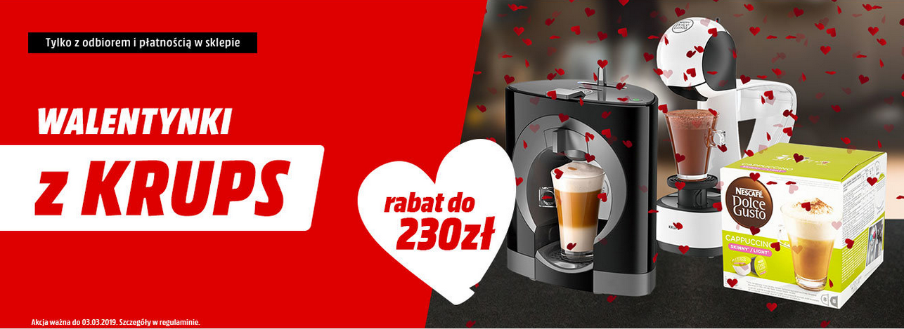 Walentynki z Krups - odbierz do 230 zł rabatu!