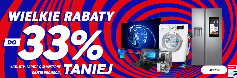 Wielkie rabaty RTV i AGD w Neonet.