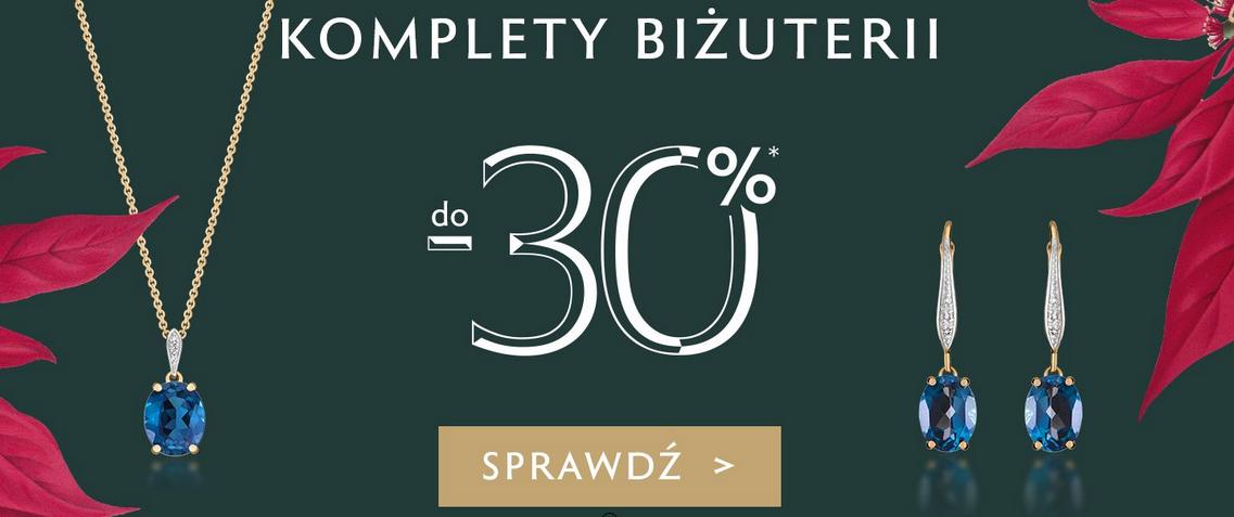 Komplety biżuterii -30% w W.Kruk.