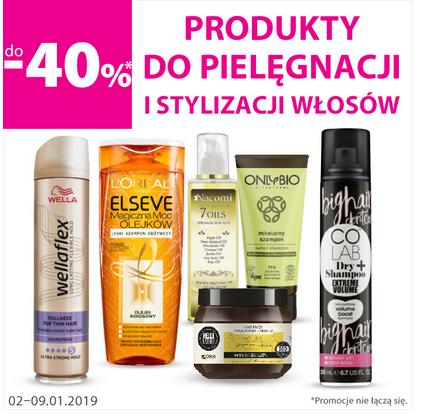 Wyprzedaż produktów do pielęgnacji włosów.
