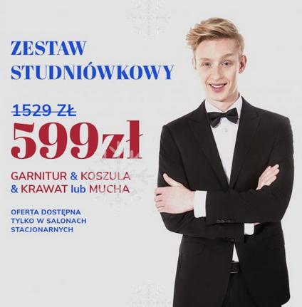 Zestaw studniówkowy w Vistuli.