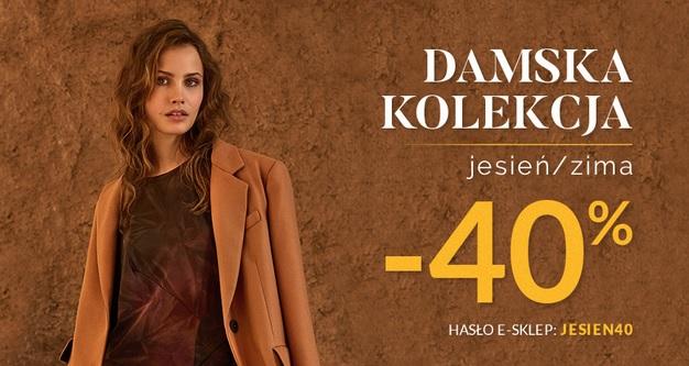 Kolekcja damska jesień/zima do 40% taniej.