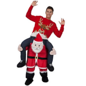 Christmas Adult Costume Ride on Mascot Pants - MULTI-A SANTA CLAUS