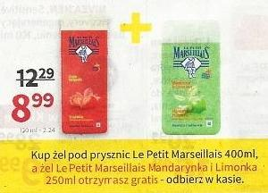 Żel Le Petit Marseillais 250ml gratis do żelu 400ml